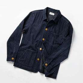 The Ojai Jacket in Indigo Herringbone: Alternate Image 9