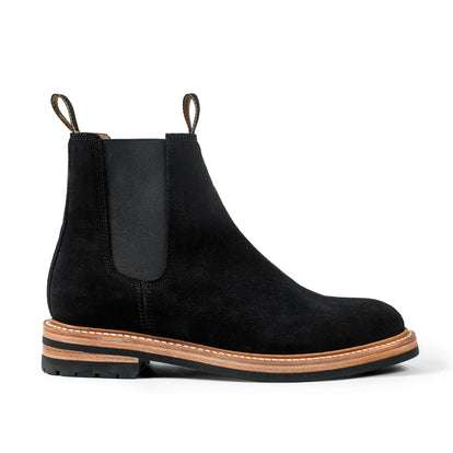 The Ranch Boot in Coal Weatherproof Suede
