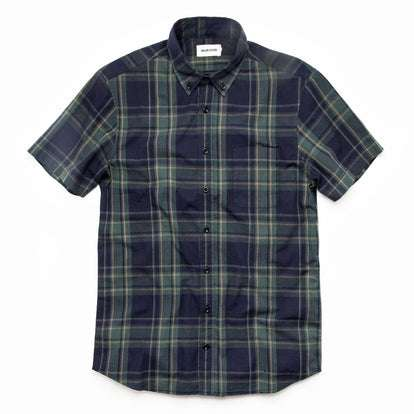 The Short Sleeve Jack in Green Madras