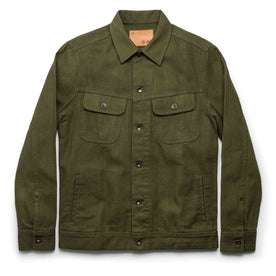 The Long Haul Jacket in Washed Olive Herringbone: Featured Image
