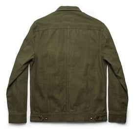 The Long Haul Jacket in Washed Olive Herringbone: Alternate Image 9