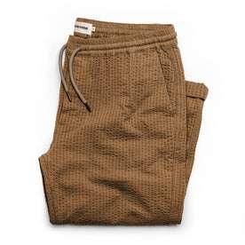 The Après Pant in British Khaki Seersucker: Featured Image