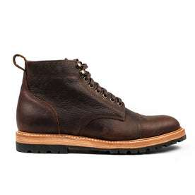 The Moto Boot in Chocolate Pebble Grain: Featured Image