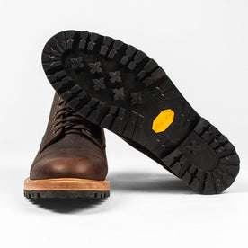 The Moto Boot in Chocolate Pebble Grain: Alternate Image 9