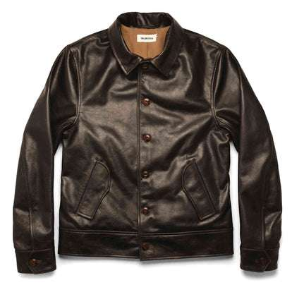 The Cuyama Jacket in Cola Leather