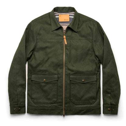 The Mechanic Jacket in Dark Olive Boss Duck