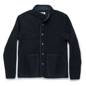 The Port Jacket in Navy Sherpa: Featured Image