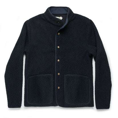 The Port Jacket in Navy Sherpa