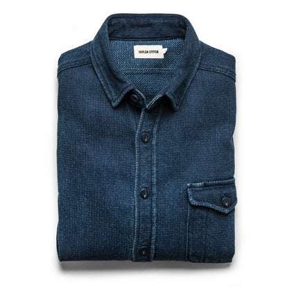 The Cash Shirt in Indigo Sashiko