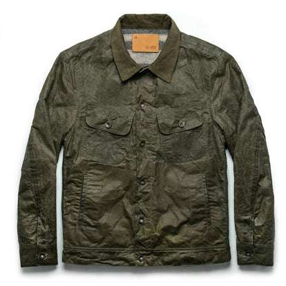 The Lined Long Haul Jacket in Olive Waxed Canvas