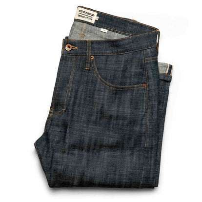 The Slim Jean in Green Cast Selvage