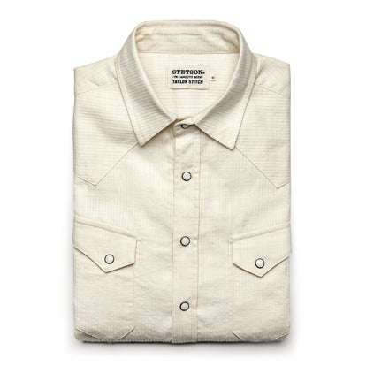 The Western Shirt in Natural Corded Denim