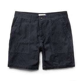 The Trail Short in Navy Slub Sateen: Featured Image