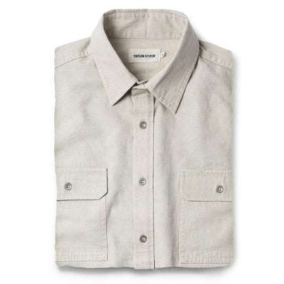 The Chore Shirt in Natural Herringbone