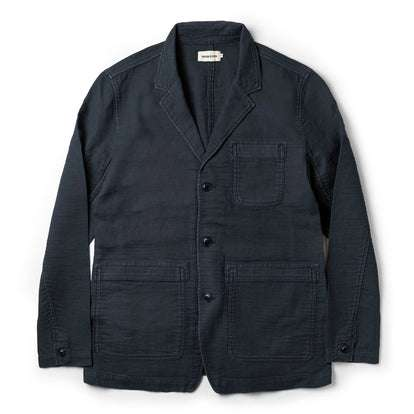 The Emerson Jacket in Navy Double Cloth