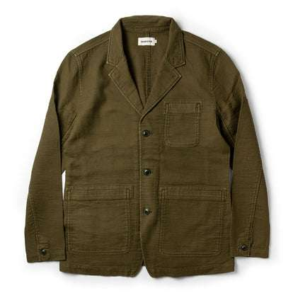 The Emerson Jacket in Olive Double Cloth