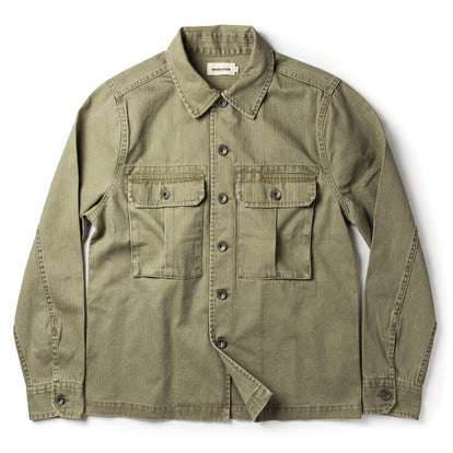 The HBT Jacket in Washed Olive