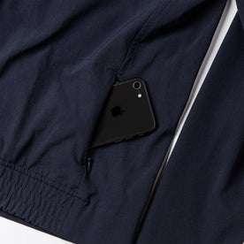 material shot of zipper pouch