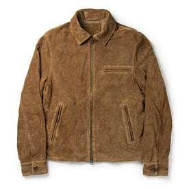 The Wyatt Jacket in Cognac Suede: Featured Image