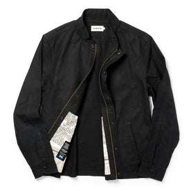The Bomber Jacket in Black Dry Wax: Alternate Image 8