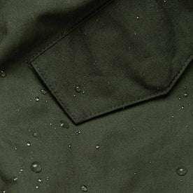 material shot of water beading