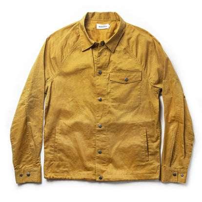 The Lombardi Jacket in Mustard Dry Wax