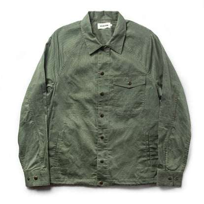 The Lombardi Jacket in Olive Dry Wax