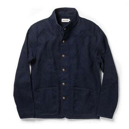 The Port Jacket in Indigo Sashiko