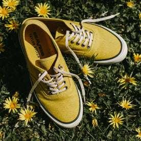 material shot of sneakers in grass