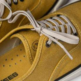 material shot of laces and boss duck