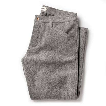 The Camp Pant in Heather Grey Wool
