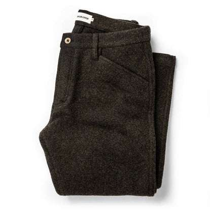 The Camp Pant in Dark Moss Wool