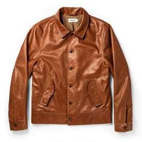 flatlay of The Cuyama Jacket in Cognac