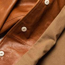 material shot of buttons inside of jacket