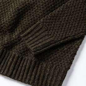 material shot of bottom knit detail