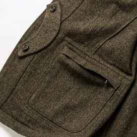 material shot of interior pocket