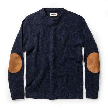 The Hardtack Sweater in Navy Donegal