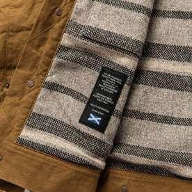 material shot of fabric detail inside