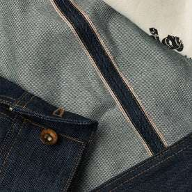 material shot of interior selvage detailing