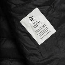material shot of fabric detail inside of jacket