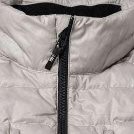 material shot of zipper and collar