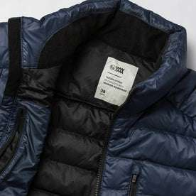 material shot of jacket open