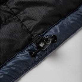 material shot of jacket bottom details