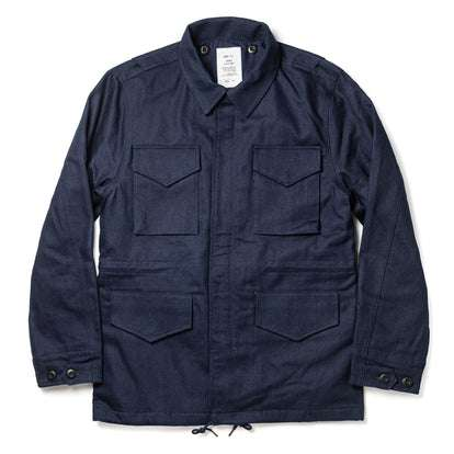 The Taylor Stitch x Alpha Industries M-51 in Indigo Reverse Sateen