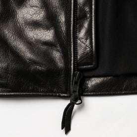 material shot of zipper detail