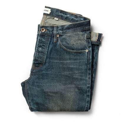 The Democratic Jean in Organic Selvage 12-month Wash