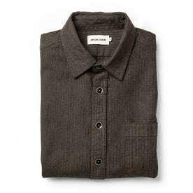 The Mechanic Shirt in Dark Olive Herringbone: Featured Image