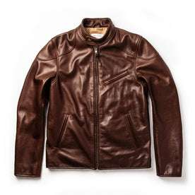 The Band Collar Moto Jacket in Espresso Steerhide: Featured Image