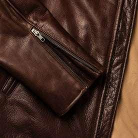 material shot of wrist zipper