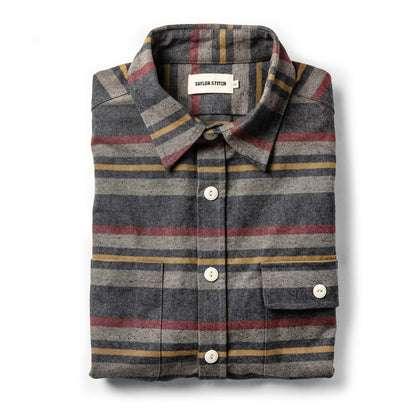 The Moto Shirt in Blanket Stripe
